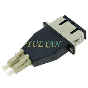 SC Female to LC Male Duplex Hybrid Adapter Converter Multimode MM 50/125