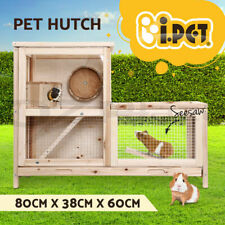 Rabbit Guinea Pig Ferret Rodents Hutch Hutches Wooden Cage Running