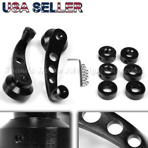 """FOR OLD JDM CARS! 4.7"""" ALUMINUM ALLOY! USA ANODIZED BLACK WINDOW CRANKS WINDERS"""