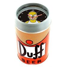 homer SIMPSON réveil en forme de canette de la bière DUFF avec récipient 11,5 cm