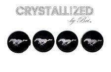 4 CRYSTALLIZED Caps for FORD MUSTANG Center Wheel Rim Bling w/Swarovski Crystal