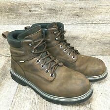 Wolverine Men's Floorhand Soft Toe Work Boot Waterproof Brown Leather Size 9.5