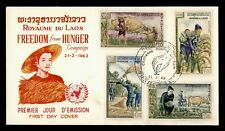 DR WHO 1963 LAOS FREEDOM FROM HUNGER FDC C150219