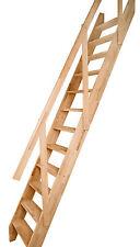 Raumspartreppe Olymp Buche inkl. Holzhandlauf Holztreppe mit geteilten Wangen