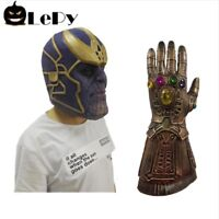 Halloween Mask Dance Costume Helmet Gloves Hand Superhero Latex Props Rare