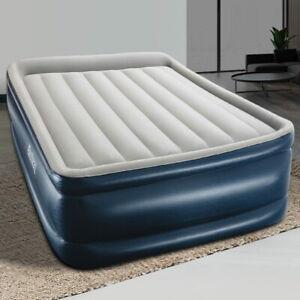 Bestway QUEEN AIR BED Inflatable Mattress Mat Electric Pump Camping Matress
