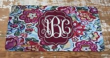 Monogram License Plate Floral Blue Personalized Car Tag New