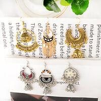 Fashion Women Bell Gypsy Jewelry Tassel Bead Jhumka Indian Retro Tassel Earrings