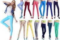 New Women Skinny Slim Coloured Denim Stretch Jeggings Trousers Leggings Jeans UK