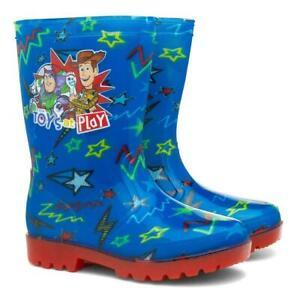 BOYS NEW TOY STORY WELLIES WELLY WOODY BUZZ WELLINGTON RAIN BOOTS SIZE 6 -12