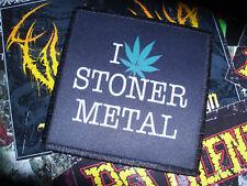 I Love Stoner Metal Patch Aufnäher Goatsnake Weedeater