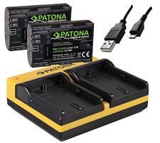 Bateria 2 lp-e6n lpe6n con chip + patonas para dual cargador para Canon EOS 2040mah Mark