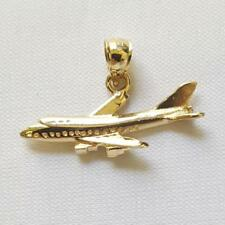 14k Yellow Gold  AIRPLANE Pendant / Charm, Made in USA