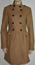 NWT BURBERRY BRIT $1195 WOMENS WOOL CASHMERE TWILL DRESS COAT JACKET US 10 EU 44