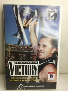 Collingwood Magpies AFL Vintage VHS Cassette 1990 The Road to Victory Tony Shaw