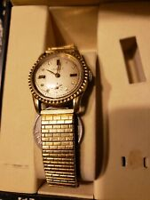 Vintage Chalet man's watch with garnets-gold plated