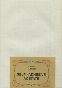 """A pack of 12 sheets  """"  100micron  SELF - ADHESIVE  ACETATE  """" ."""