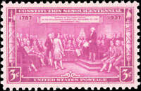 Scott # 798 Constitution Unused Single Stamp MNH OG