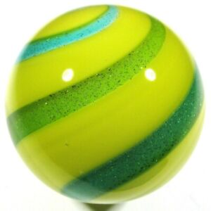 """Hot House Glass banded swirl marble 1.45"""" 37mm #164"""