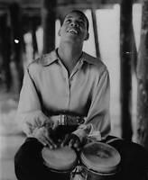 Preston Epps Poses Playing Bongo Drums 1959 OLD MUSIC PHOTO