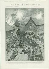1904 Antique Print - RUSSO-JAPANESE WAR Kinchau Walled Town Bayonet Capture (41)