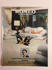 PUBLICITE ANNEES 70 ROMEO HAUTE DECORATION - CLAUDE DALLE