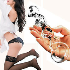Clear Glass Dildo Crystal Masturbator G-Spot-Flirt for Female Anal Plug Sex Toys