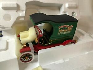 RARE 1/16 scale metal 2002 FRANKLIN MINT 1913 Ford Model T Christmas Truck COA