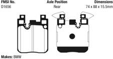 EBC Redstuff Ceramic Brake Pad Set Rear for BMW 328 / 428 / M3 / M4 # DP32133C