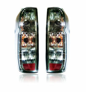 FOR NISSAN FRONTIER NAVARA D40 2005-2013 TAIL LIGHT REAR LAMP BLACK SMOKE LENS
