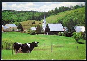 1997 Panoramic View of Church, Farm, East Corinth, Orange County, VT