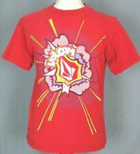 Volcom Adult Medium Red Super Hero T-Shirt (M Surf Surfing Surfboard Skateboard)