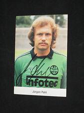 JURGEN PAHL  Autogrammkarte  signiert  EINTRACHT FRANKFURT  INFOTEC 1982-1983