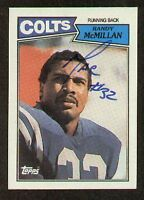 Randy McMillan signed autograph auto 1987 Topps Football Trading Card