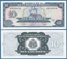 Haiti 10 Gourdes 1999 P 256 UNC Low Shipping! Combine FREE!
