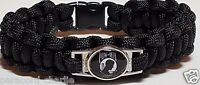 Prisoner of War Black Handmade Paracord Military Bracelet with POW MIA Emblem