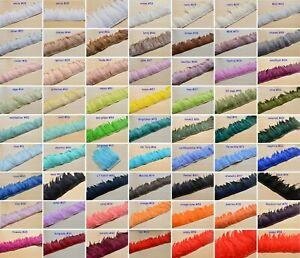 60 Colours Coque Hackle Feather Fringe Millinery Craft Fascinators Gown Costume