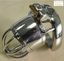 Stainless Steel Male Man Chastity CBT Slave Gay Curve Ring Penis Cage Sleeve