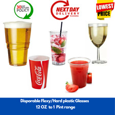Disposable Flexy Plastic Beer Tumblers wine Cold Drink Cups Glasses bars pubs
