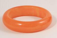 BAKELITE Bangle Estate Marbled Orange Chunky VNTG Bracelet Simichrome Tested