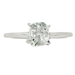 Herkimer Diamond - USA 925 Sterling Silver Ring Jewelry s.7 BR92980