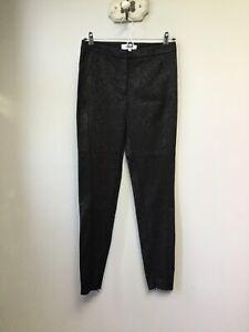 Gorgeous Ladies REISS Black Gio Jacquard Trousers, UK Size 8, Good Condition