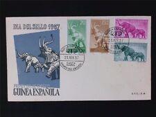 GUINEA ESPANOLA FDC 1957 TIERE ELEFANT ELEFANTEN ANIMALS ELEPHANTS c6121