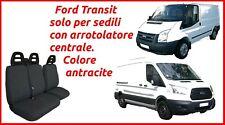 Coprisedili Ford Transit con arrotolatore fodere trapuntate grigio antracite