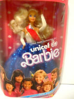 VINTAGE 1989 BARBIE Doll UNICEF Special EDITION-Red White-Blue Evening Gown-NRFB