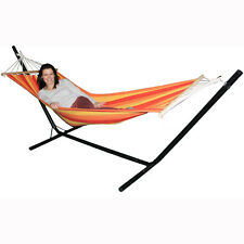 Hammock with Stand Garden Outdoor Lounger Swing Chair Steel Metal Redstone