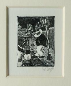 1992 Willard Clark ORIGINAL PRINT New Mexico ART Etching from Matteucci Gallery