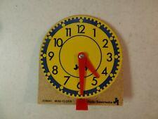 Lot of 5 Judy Instructo Mini Clock Wood 209041