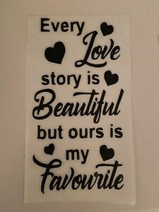 Bottle Decal Valentines Day Cricut Love Story Is Beautiful Vinyl Transfer