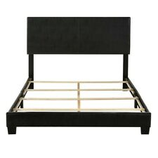 Modern Style Furniture Beds Composite Wood Bed Frame Queen Bed - Black